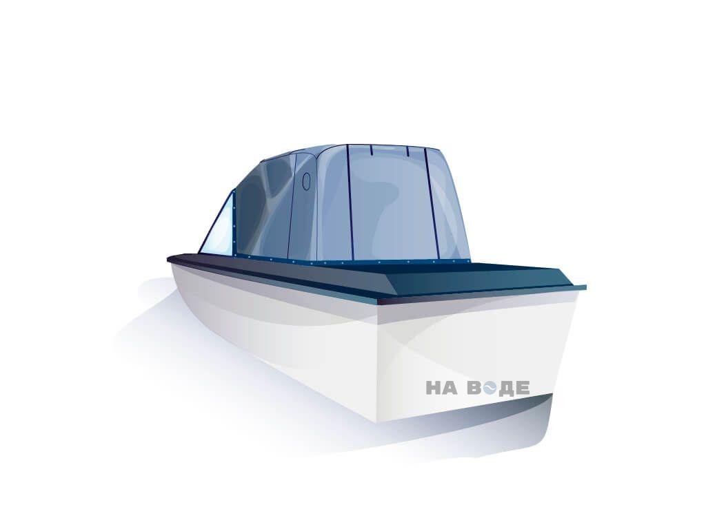 Ходовой тент на лодку Амур-3 комплектация Эконом - фото 3