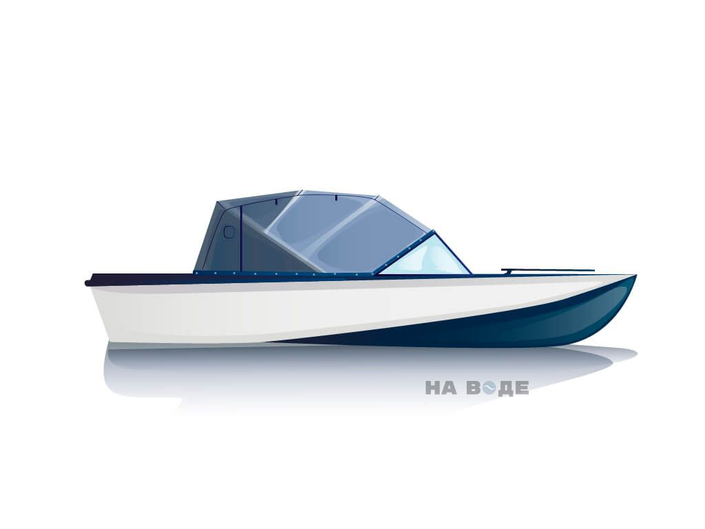 Ходовой тент на лодку Амур-3 комплектация Эконом - фото 1