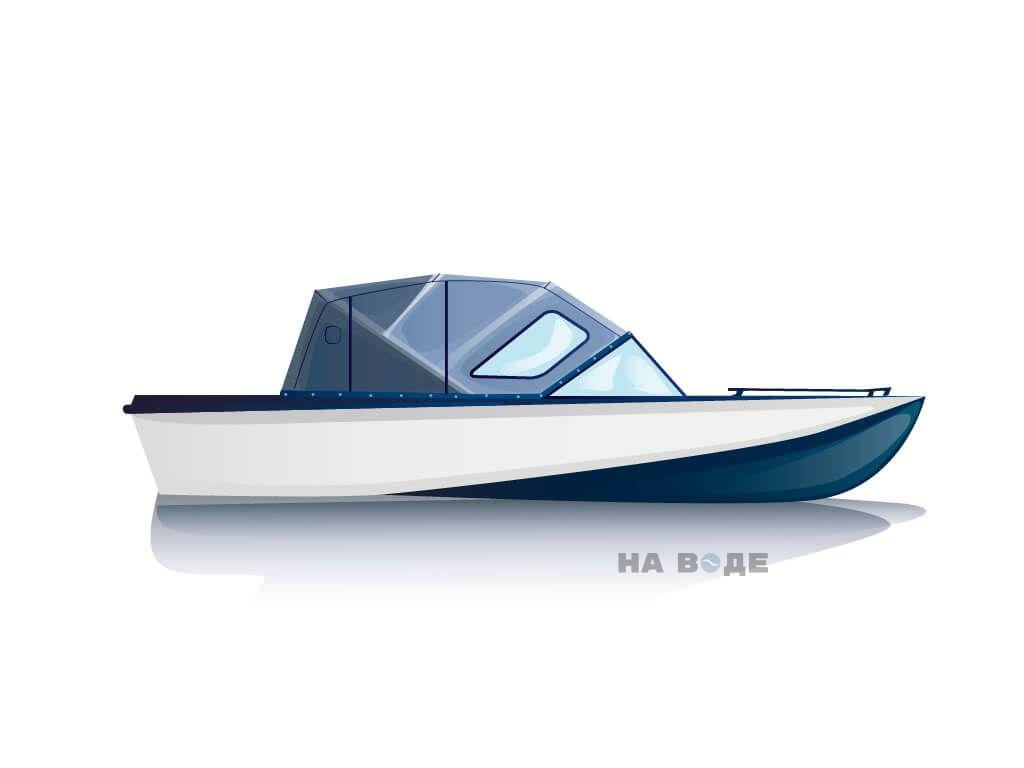 Ходовой тент на лодку Амур-3 комплектация Комфорт - фото 1