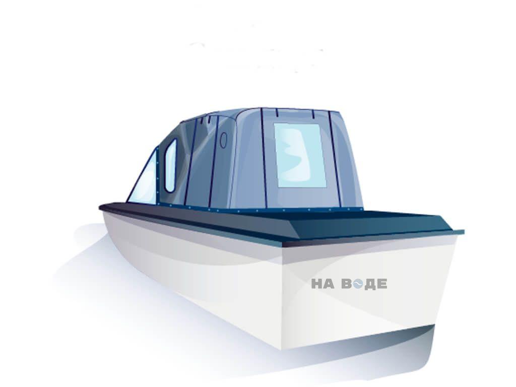 Ходовой тент на лодку Амур-3 комплектация Комфорт - фото 3