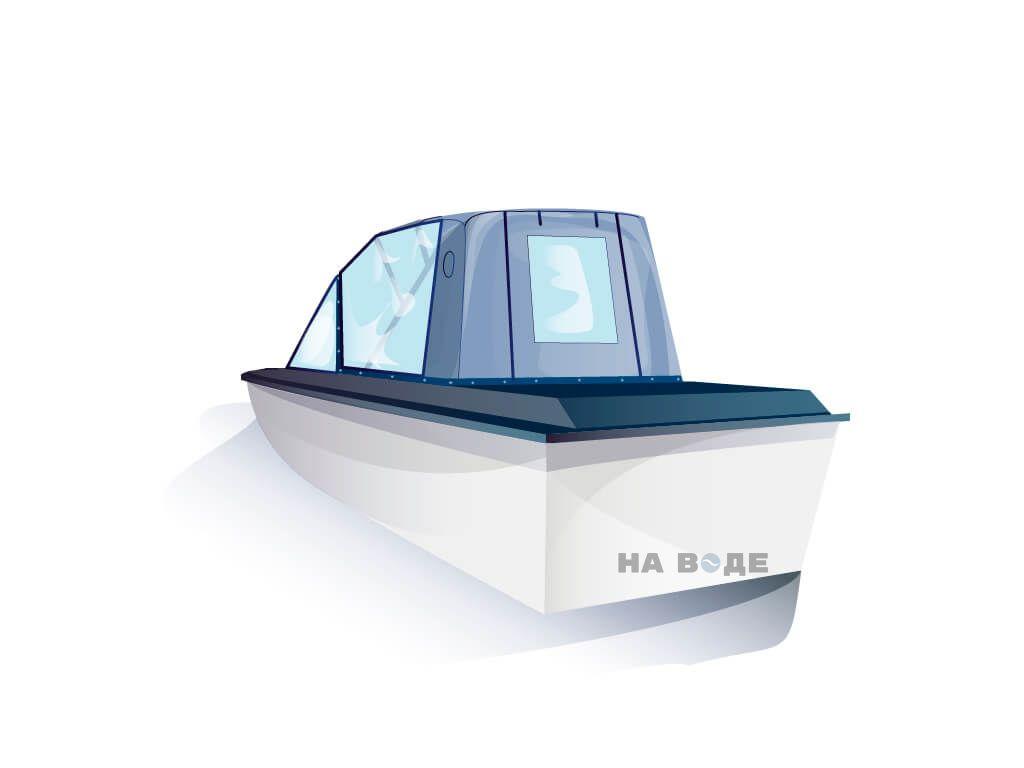 Ходовой тент на лодку Амур-3 комплектация Капитан - фото 3