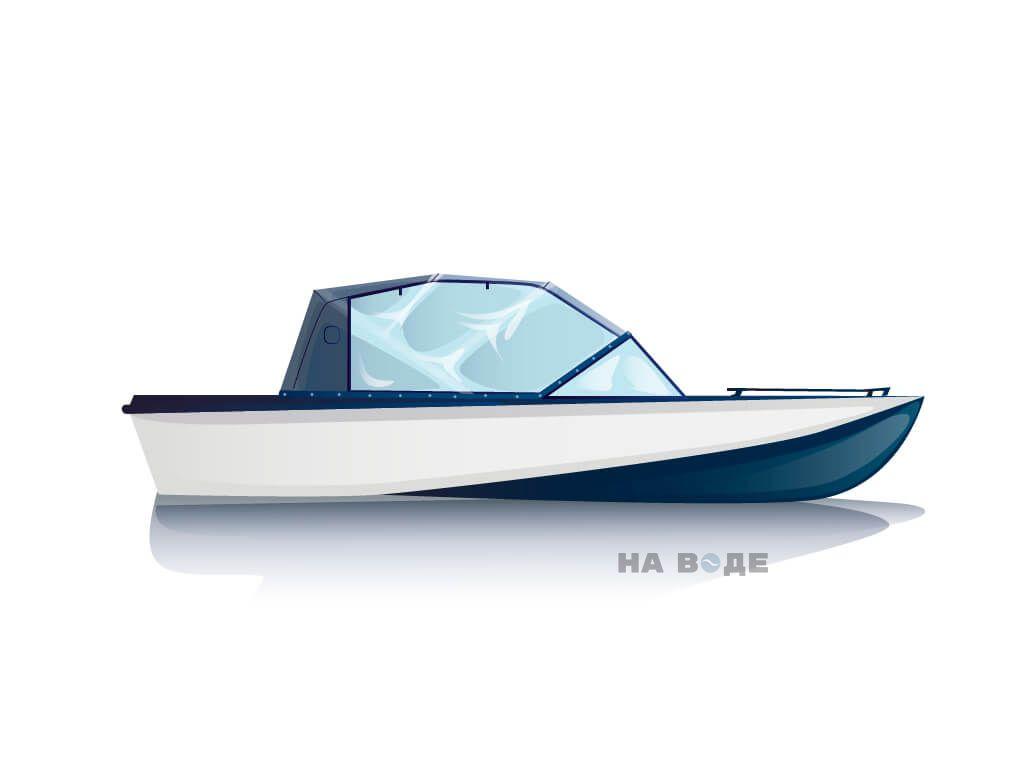 Ходовой тент на лодку Амур-3 комплектация Капитан - фото 1