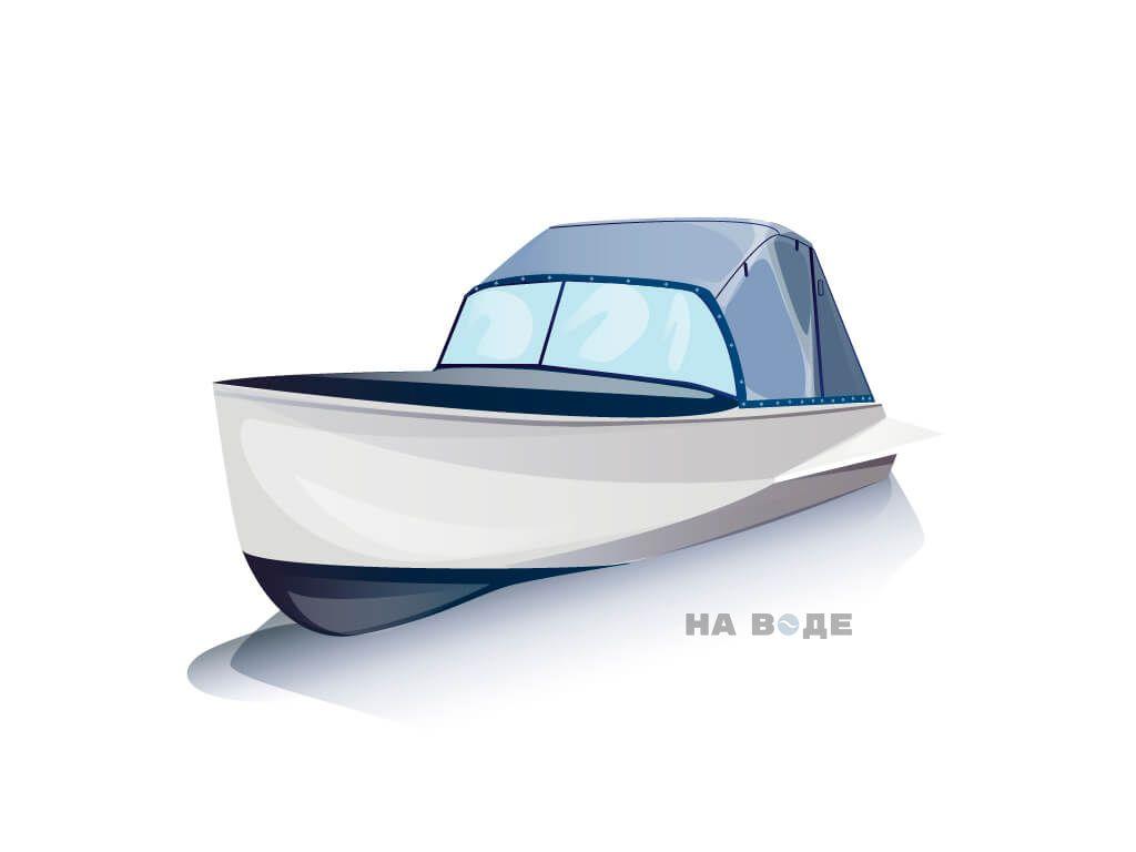 Ходовой тент на лодку Казанка-М комплектация Эконом - фото 2