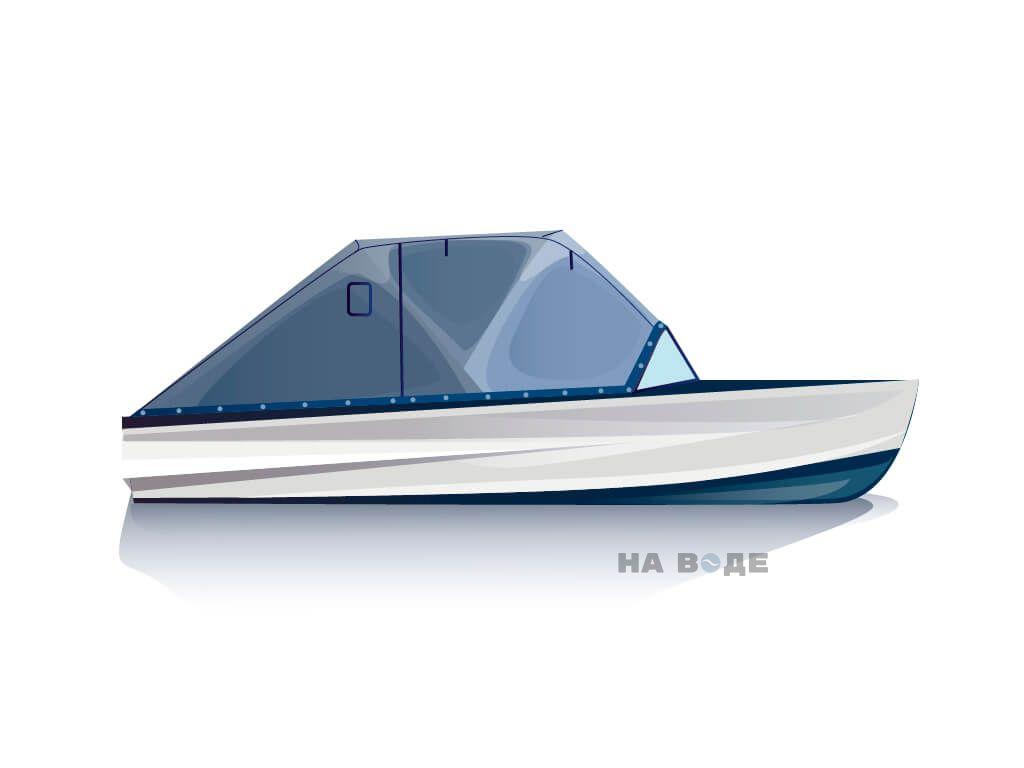 Ходовой тент на лодку Казанка-М комплектация Эконом - фото 1