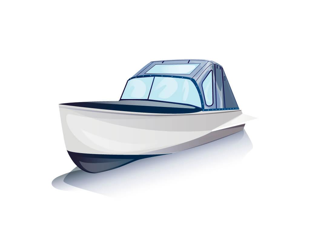 Ходовой тент на лодку Казанка-М комплектация Комфорт - фото 2