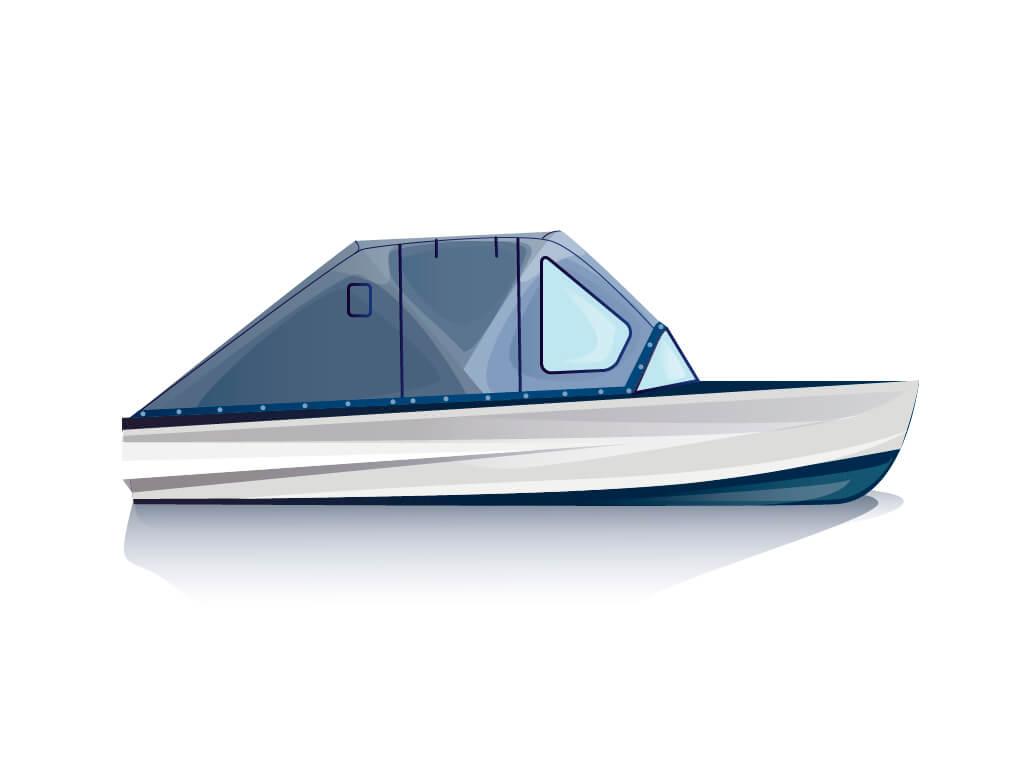 Ходовой тент на лодку Казанка-М комплектация Комфорт - фото 1