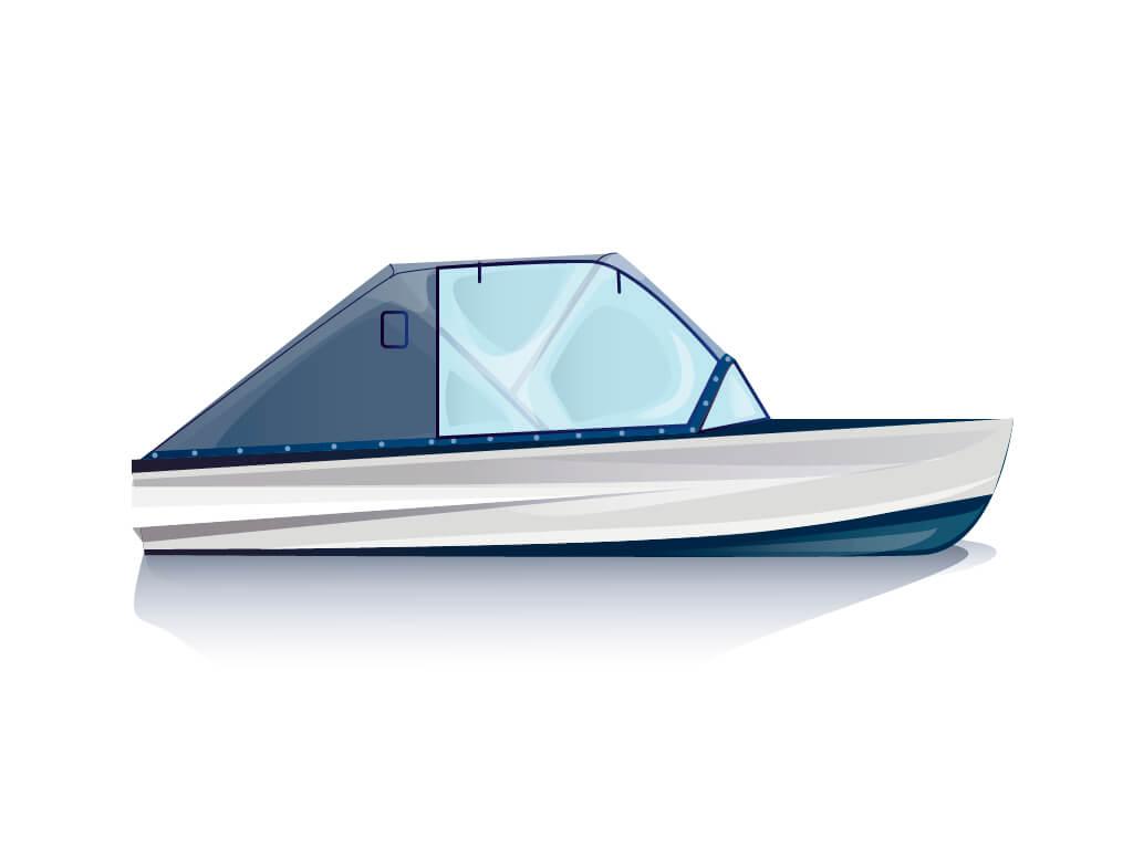 Ходовой тент на лодку Казанка-М комплектация Капитан - фото 1