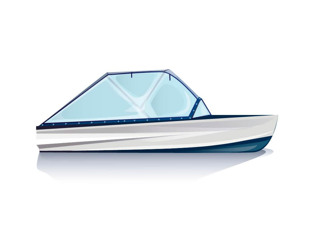 Ходовой тент на лодку Казанка-М комплектация Универсал - фото 1