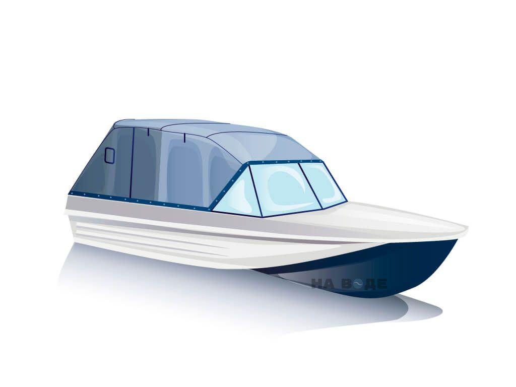 Ходовой тент на лодку Казанка-5 комплектация Эконом - фото 2