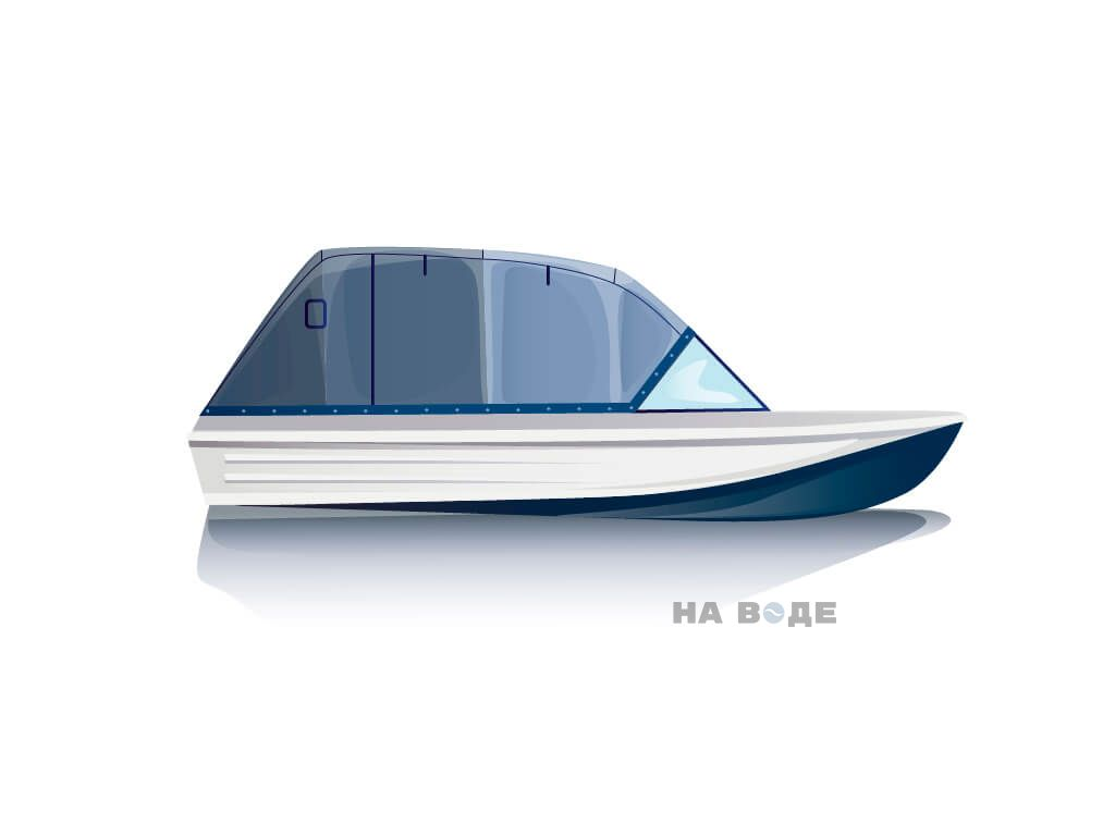 Ходовой тент на лодку Казанка-5 комплектация Эконом - фото 1