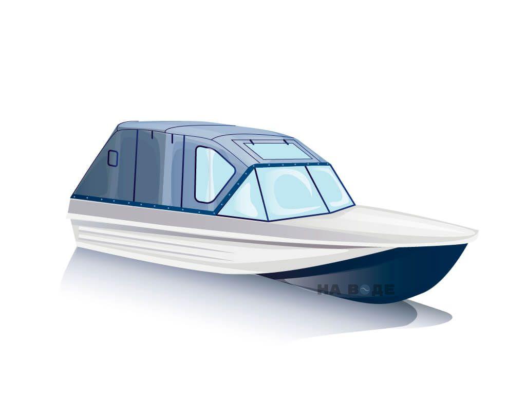 Ходовой тент на лодку Казанка-5 комплектация Комфорт - фото 2