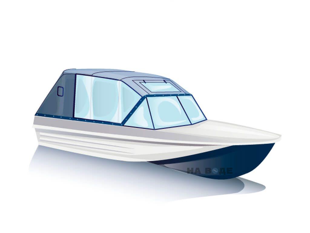 Ходовой тент на лодку Казанка-5 комплектация Капитан - фото 2