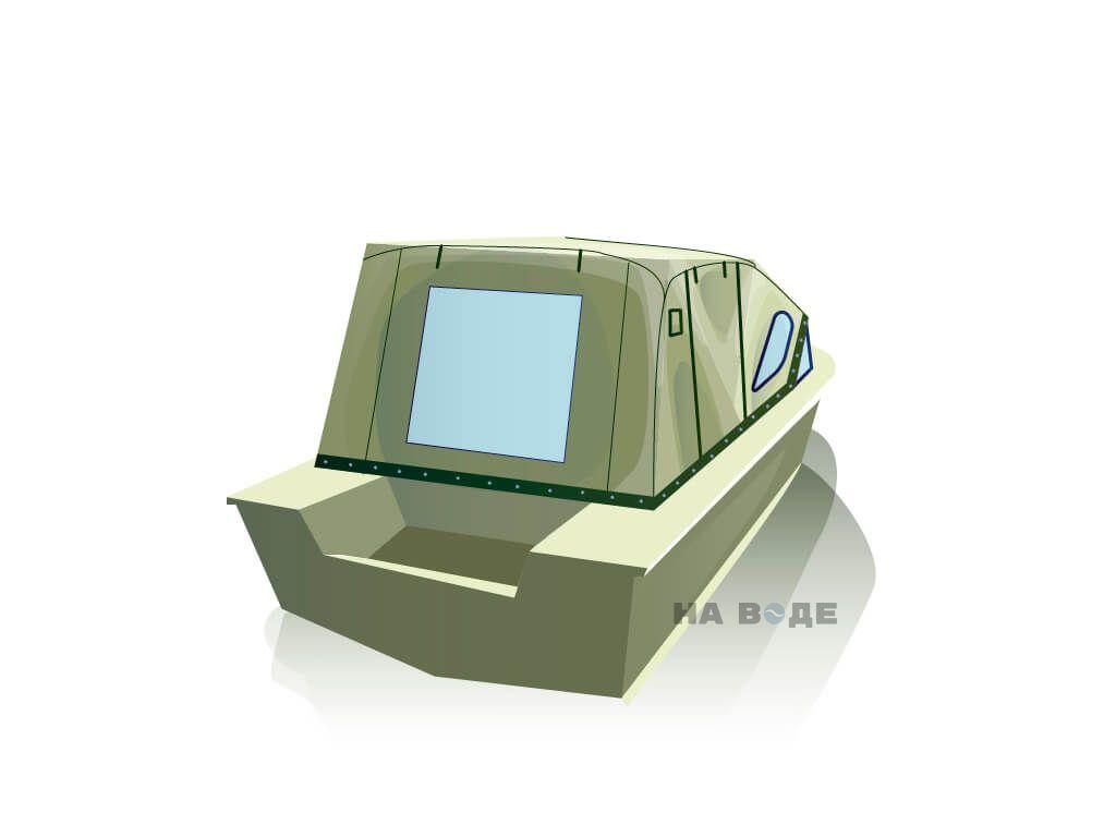 Ходовой тент на лодку Южанка-2 комплектация Комфорт - фото 3