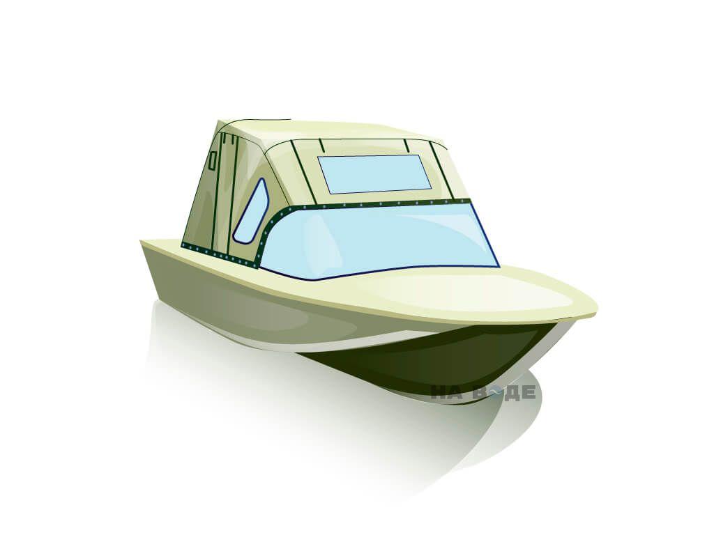 Ходовой тент на лодку Южанка-2 комплектация Комфорт - фото 1