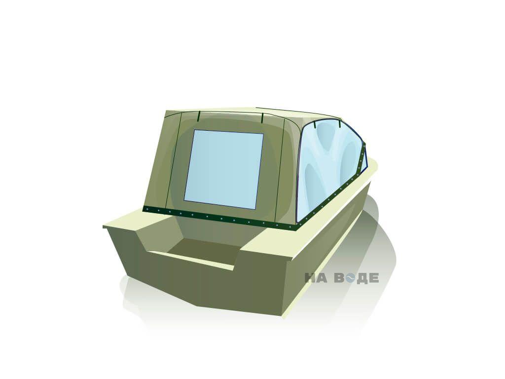 Ходовой тент на лодку Южанка-2 комплектация Универсал - фото 3