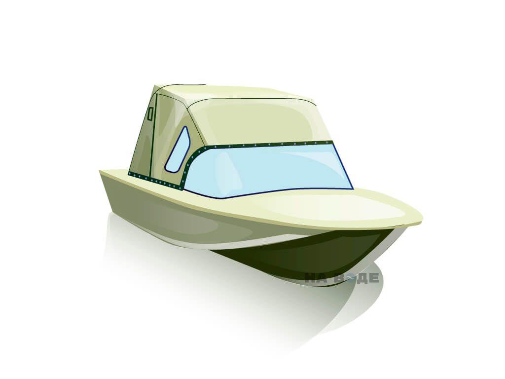 Ходовой тент на лодку Южанка-2 комплектация Стандарт - фото 1
