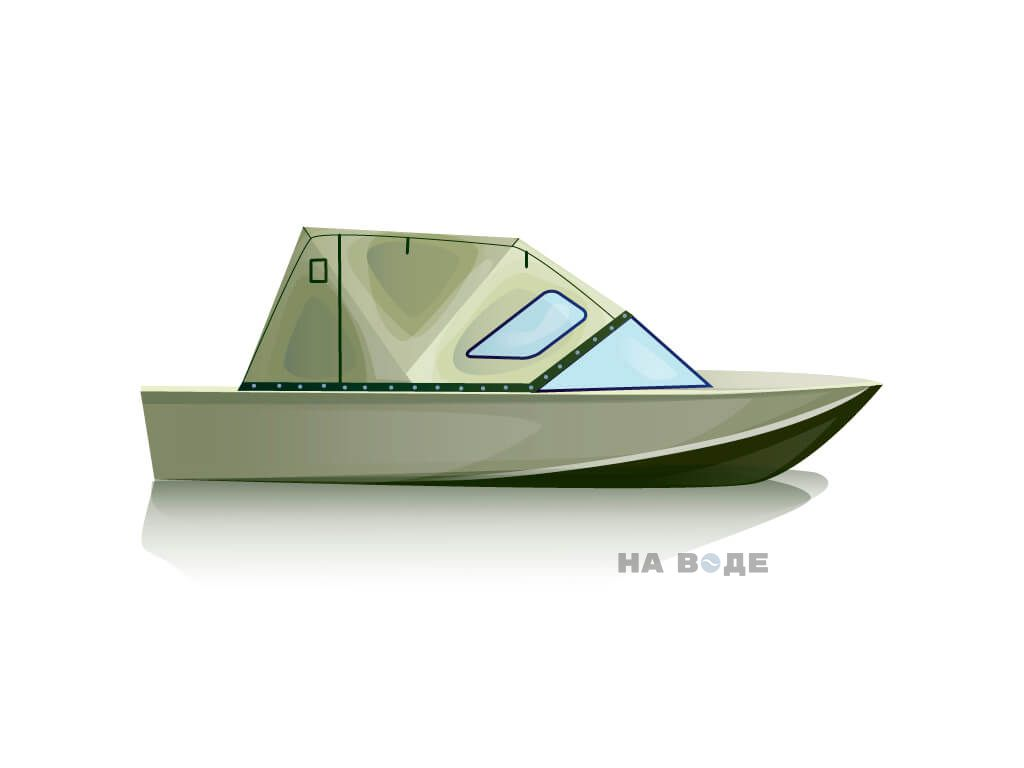 Ходовой тент на лодку Южанка-2 комплектация Стандарт - фото 2