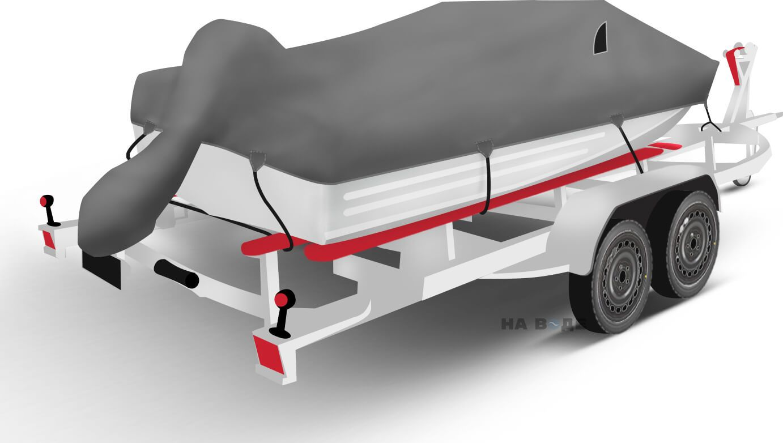 Транспортировочный тент на лодку Южанка-2 комплектация C накрытием мотора - фото 2