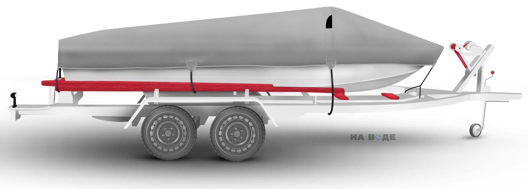 Транспортировочный тент на лодку Quintrex 455 Coast Runner комплектация Классик - фото 3