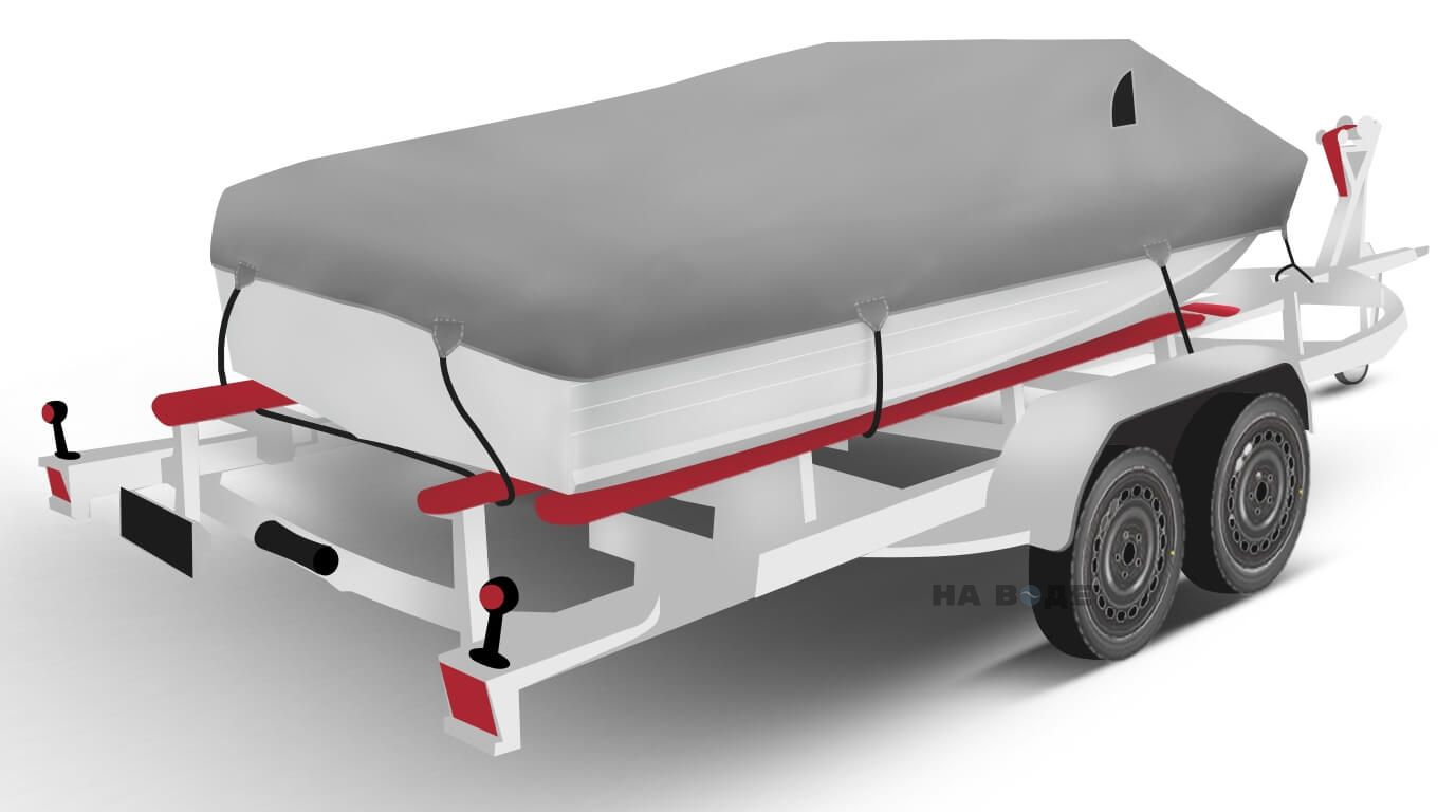 Транспортировочный тент на лодку Quintrex 455 Coast Runner комплектация Классик - фото 2