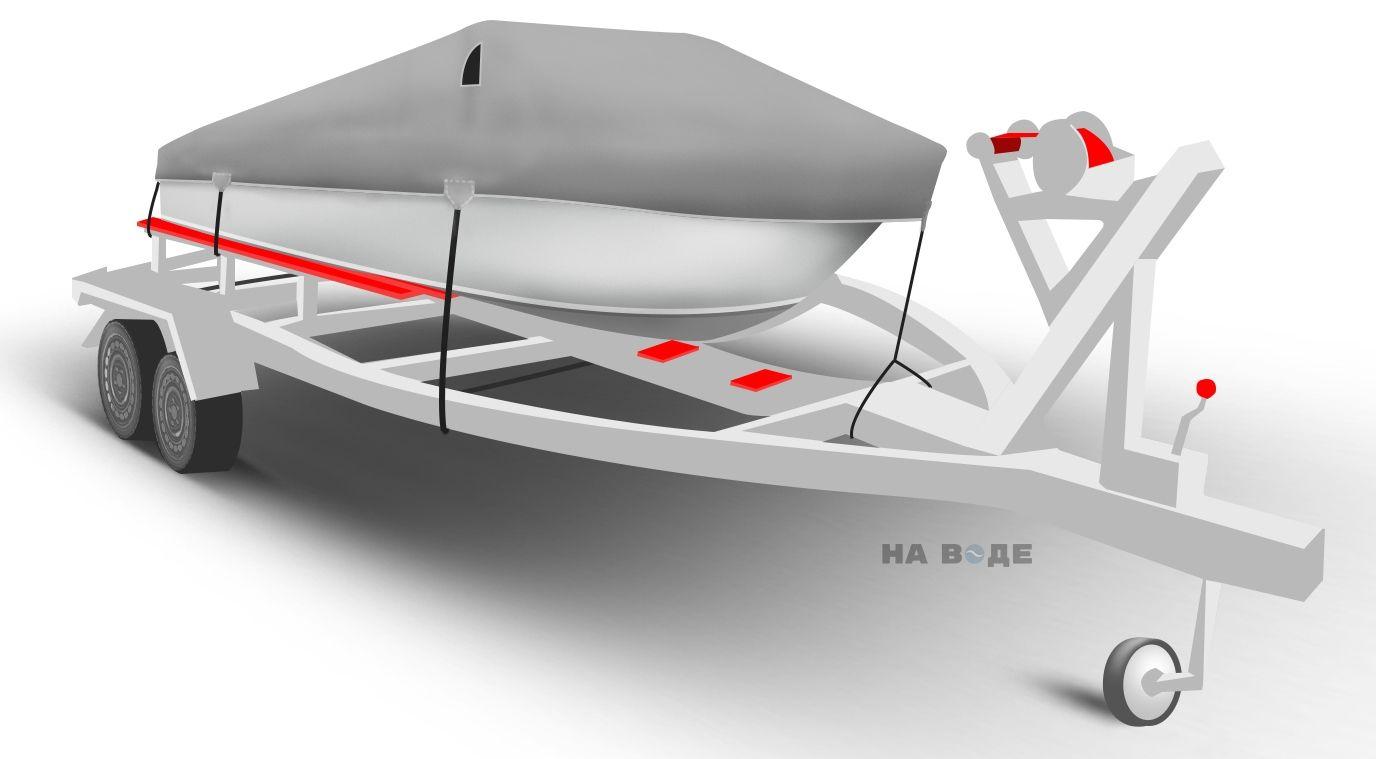 Транспортировочный тент на лодку Quintrex 455 Coast Runner комплектация Классик - фото 1