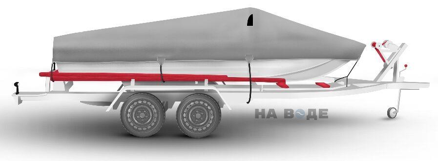 Транспортировочный тент на лодку Южанка-2 комплектация Классик - фото 3