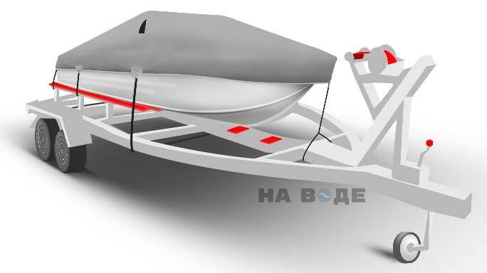 Транспортировочный тент на лодку Южанка-2 комплектация Классик - фото 2