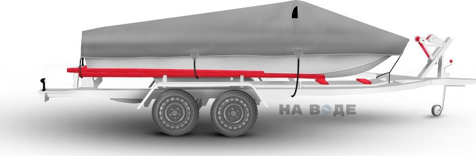 Транспортировочный тент на лодку Сарепта без рубки комплектация Классик - фото 3