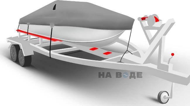 Транспортировочный тент на лодку Сарепта без рубки комплектация Классик - фото 1