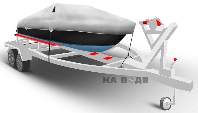 Транспортировочный тент на лодку Прогресс-2 комплектация Классик - фото 1