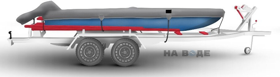 Транспортировочный тент на лодку Прогресс-2 комплектация C накрытием мотора - фото 3