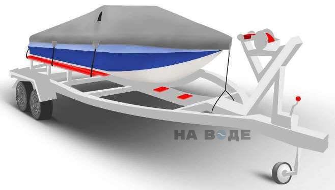 Транспортировочный тент на лодку Обь-М комплектация Классик - фото 1