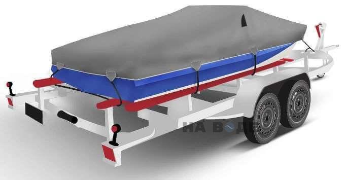 Транспортировочный тент на лодку Обь-М комплектация Классик - фото 2