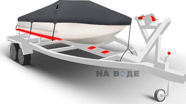 Транспортировочный тент на лодку Обь-3 комплектация Классик - фото 1