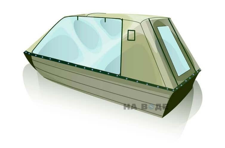 Ходовой тент на лодку Тактика 370 комплектация Оптима - фото 3