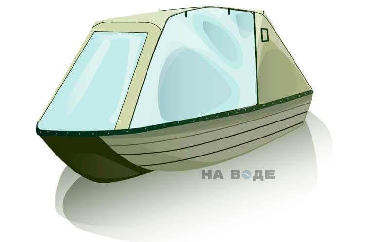 Ходовой тент на лодку Тактика 370 комплектация Оптима - фото 1