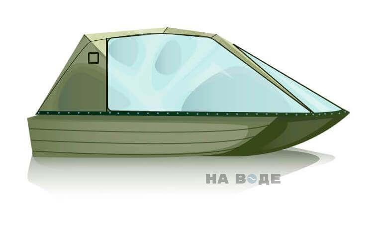 Ходовой тент на лодку Тактика 370 комплектация Оптима - фото 2