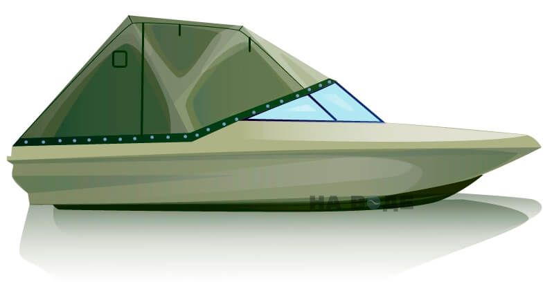 Ходовой тент на катер Bayliner 175 комплектация Эконом - фото 1
