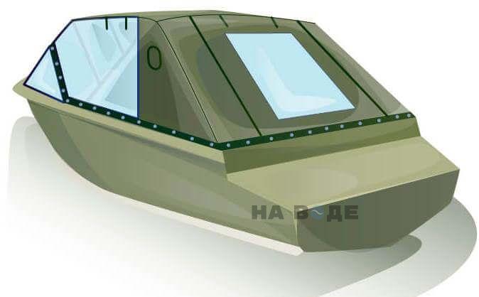 Ходовой тент на лодку Quintrex 455 Coast Runner комплектация Капитан - фото 3
