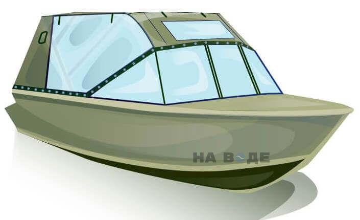 Ходовой тент на лодку Quintrex 455 Coast Runner комплектация Капитан - фото 2