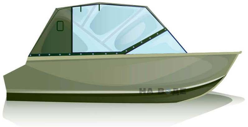 Ходовой тент на лодку Quintrex 455 Coast Runner комплектация Капитан - фото 1