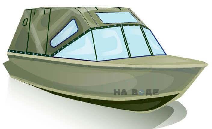 Ходовой тент на лодку Quintrex 455 Coast Runner комплектация Комфорт - фото 2
