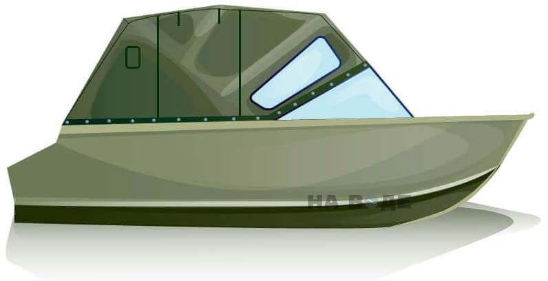 Ходовой тент на лодку Quintrex 455 Coast Runner комплектация Комфорт - фото 1