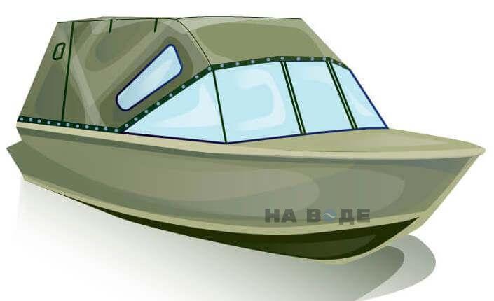 Ходовой тент на лодку Quintrex 455 Coast Runner комплектация Стандарт - фото 2