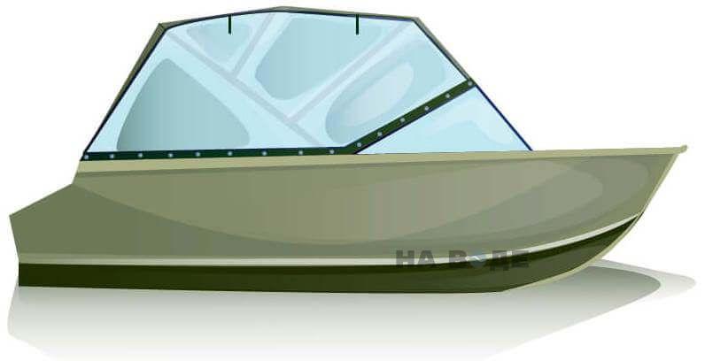 Ходовой тент на лодку Quintrex 455 Coast Runner комплектация Универсал - фото 1