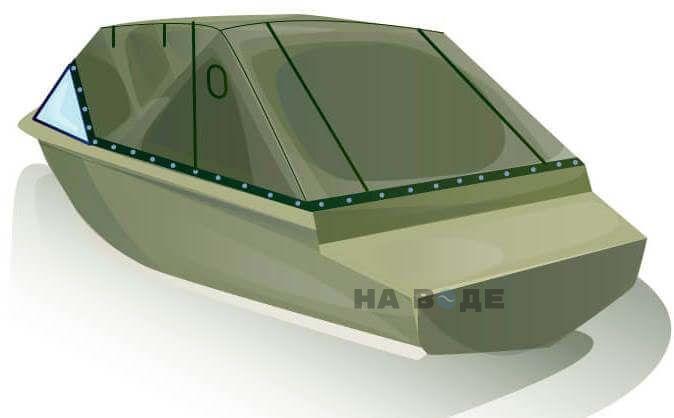 Ходовой тент на лодку Quintrex 455 Coast Runner комплектация Эконом - фото 3