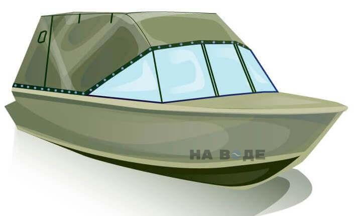 Ходовой тент на лодку Quintrex 455 Coast Runner комплектация Эконом - фото 2