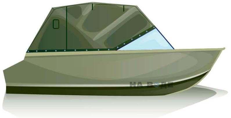 Ходовой тент на лодку Quintrex 455 Coast Runner комплектация Эконом - фото 1