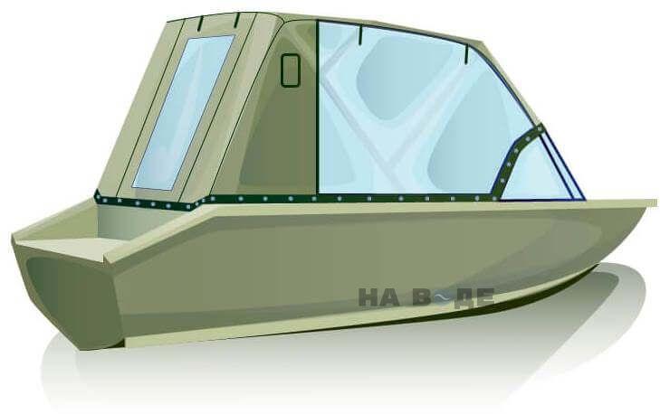 Ходовой тент на лодку Волжанка-46 (Классик) комплектация Капитан - фото 3