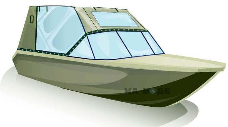 Ходовой тент на лодку Волжанка-46 (Классик) комплектация Капитан - фото 2